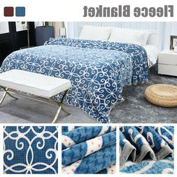 100% Microfiber Plush Floral Paint Fleece Bed Blanket Twin F