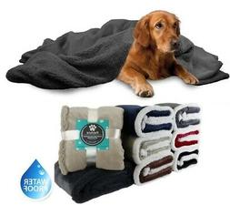WATERPROOF Dog Blanket for Bed Couch Furniture Puppy Large D