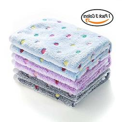 1 Pack 3 Blankets Super Soft Fluffy Premium Fleece Pet Blank