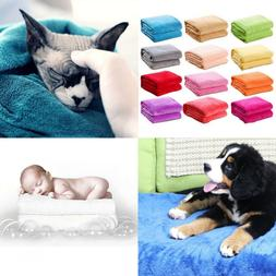 50*70cm Soft Warm Solid Warm Micro Plush Fleece Blanket Thro
