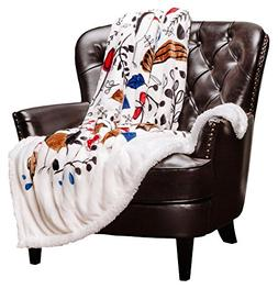 Bird Nature Throws Print Cream White Fleece Blanket - For Be