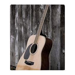 CafePress - Acoustic Guitar - Soft Fleece Throw Blanket, 50""
