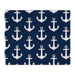 "CafePress - Anchors - Soft Fleece Throw Blanket, 50""x60"" Sta"