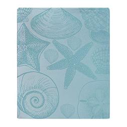 "CafePress - Aqua Shells - Soft Fleece Throw Blanket, 50""x60"""