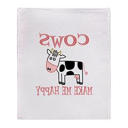 "CafePress - Cows - Soft Fleece Throw Blanket, 50""x60"" Stadiu"