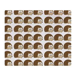 CafePress - Cute Hedgehog Pattern - Soft Fleece Throw Blanke