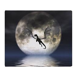 CafePress - Dragon Moon Throw Blanket Cover - Soft Fleece Th