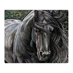 CafePress Dreamer - Friesian Horse Soft Fleece Throw Blanket