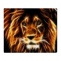 "CafePress - Lion - Soft Fleece Throw Blanket, 50""x60"" Stadiu"