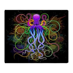 CafePress - Octopus Psychedelic Luminescence - Soft Fleece T