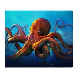"CafePress - Octopus - Soft Fleece Throw Blanket, 50""x60"" Sta"