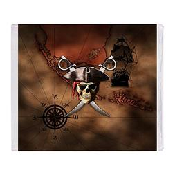 "CafePress - Pirate Map - Soft Fleece Throw Blanket, 50""x60"""