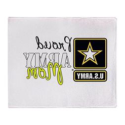 "CafePress - Proud Army Mom - Soft Fleece Throw Blanket, 50""x"