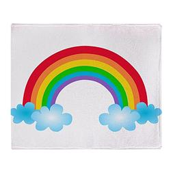 CafePress - Rainbow & Clouds - Soft Fleece Throw Blanket, 50