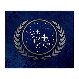 "CafePress StarTrek UFP Stone Soft Fleece Throw Blanket, 50""x"