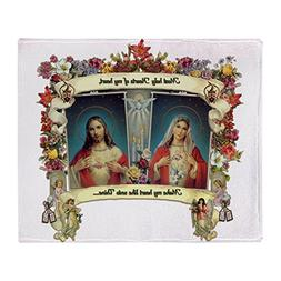 CafePress - Sacred And Immaculate Hearts - Soft Fleece Throw