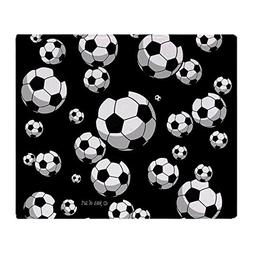 "CafePress - Soccer - Soft Fleece Throw Blanket, 50""x60"" Stad"