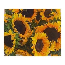 "CafePress - Sunflowers - Soft Fleece Throw Blanket, 50""x60"""
