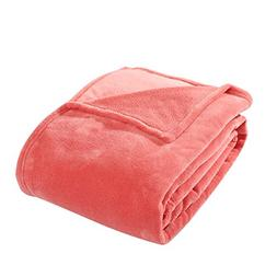 HYSEAS Coral Fleece Twin Size Plush Bed Blanket