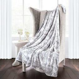Italian Luxury Egyptian Luxury Super Soft Faux Fur Throw Bla