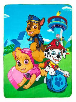 "Kids Paw Patrol Fleece Throw Blanket 45""x60"""