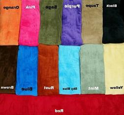 Luxurious Fleece Throw Blanket Super Soft  14 Solid Colors Q