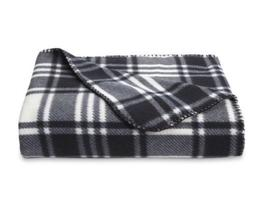 New Essential Home Plaid Throw Blanket Black & White Soft Fl