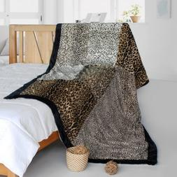 Onitiva -  Animal Style Patchwork Throw Blanket