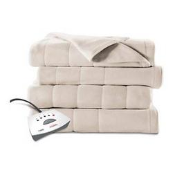 Sunbeam Heated Fleece Electric Blanket, Twin Size, 10 Hour S