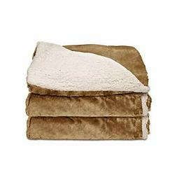 Sunbeam Heated Throw Blanket | Reversible Sherpa/Royal Mink,