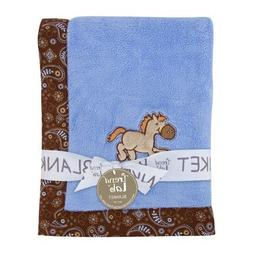 Trend Lab Cowboy Baby Framed Receiving Blanket, Blue