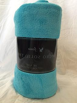 Ultra Soft Cozy Plush Fleece Warm Solid Colors Traveling Thr