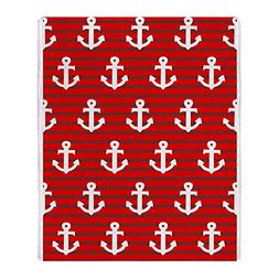 "CafePress - Red Anchors' - Soft Fleece Throw Blanket, 50""x60"