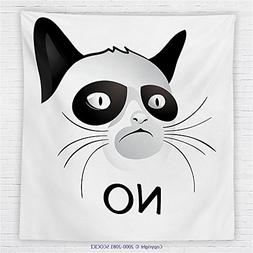 59 x 59 Inches Animal Decor Fleece Throw Blanket Cat Face Po