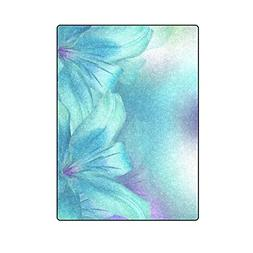 AnnHomeArt blue turquoise Soft Fleece Throw Blanket for Bed