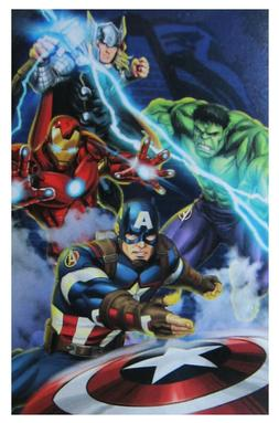 Avengers Blue Circle Throw Blanket 62 In x 90 In Soft Plush