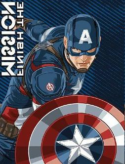 Captain America Micro Raschel Blanket - Thicker Than Fleece