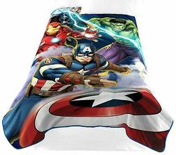Marvel Avengers Blue Circle Fleece Plush Blanket, 62 x 90/Tw