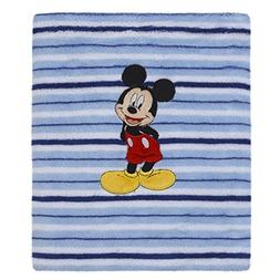 Disney Mickey Mouse Super Soft Coral Fleece Baby Blanket, Bl