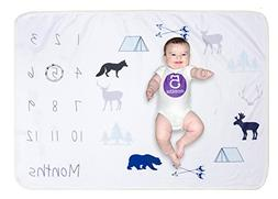 Softan Baby Monthly Milestone Growing Blanket,Newborn Infant