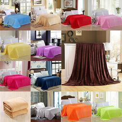 solid plush fleece blanket for sofa bed