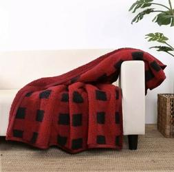 "Better Homes & Gardens Sherpa Throw Blanket, 50"" x 60"", Red"