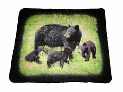 Black Bear Bears Cubs 50x60 Polar Fleece Blanket Throw