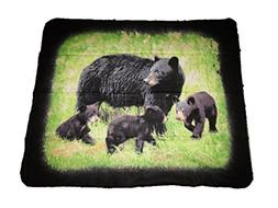 Black Bear Bears Cubs 50x60 Polar Fleece Blanket Throw warm
