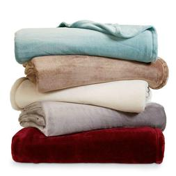 Blanket Plush Fleece Solid Color Soft Warm Machine Washable