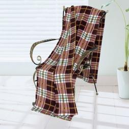 BLK-KRY011-71by79 71 by 79 in. Trendy Plaids - Soft Coral Fl