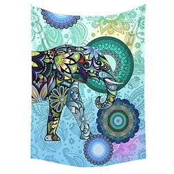 Bedsure Boho Elephant Throw Blanket Twin size 60x80 Flannel