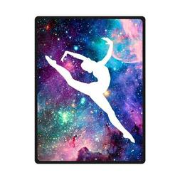 Bright Gymnastic Dancing Star Soft Fleece Blankets and throw