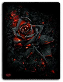 BURNT ROSE - Fleece Blanket with Double Sided Print/