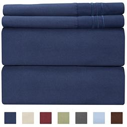 California King Size Sheet Set - 4 Piece - Hotel Luxury Bed